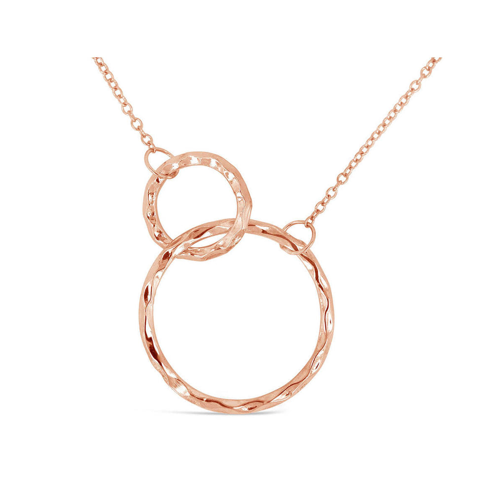 Connected Circles Necklace in Rose Gold | Little Sparkles
