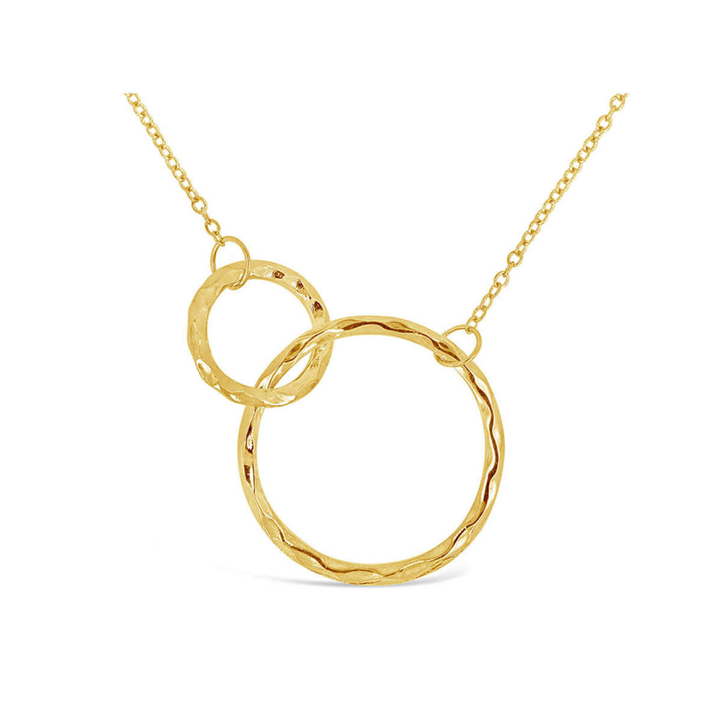 Connected Circles Necklace in Yellow Gold | Little Sparkles Jewelry