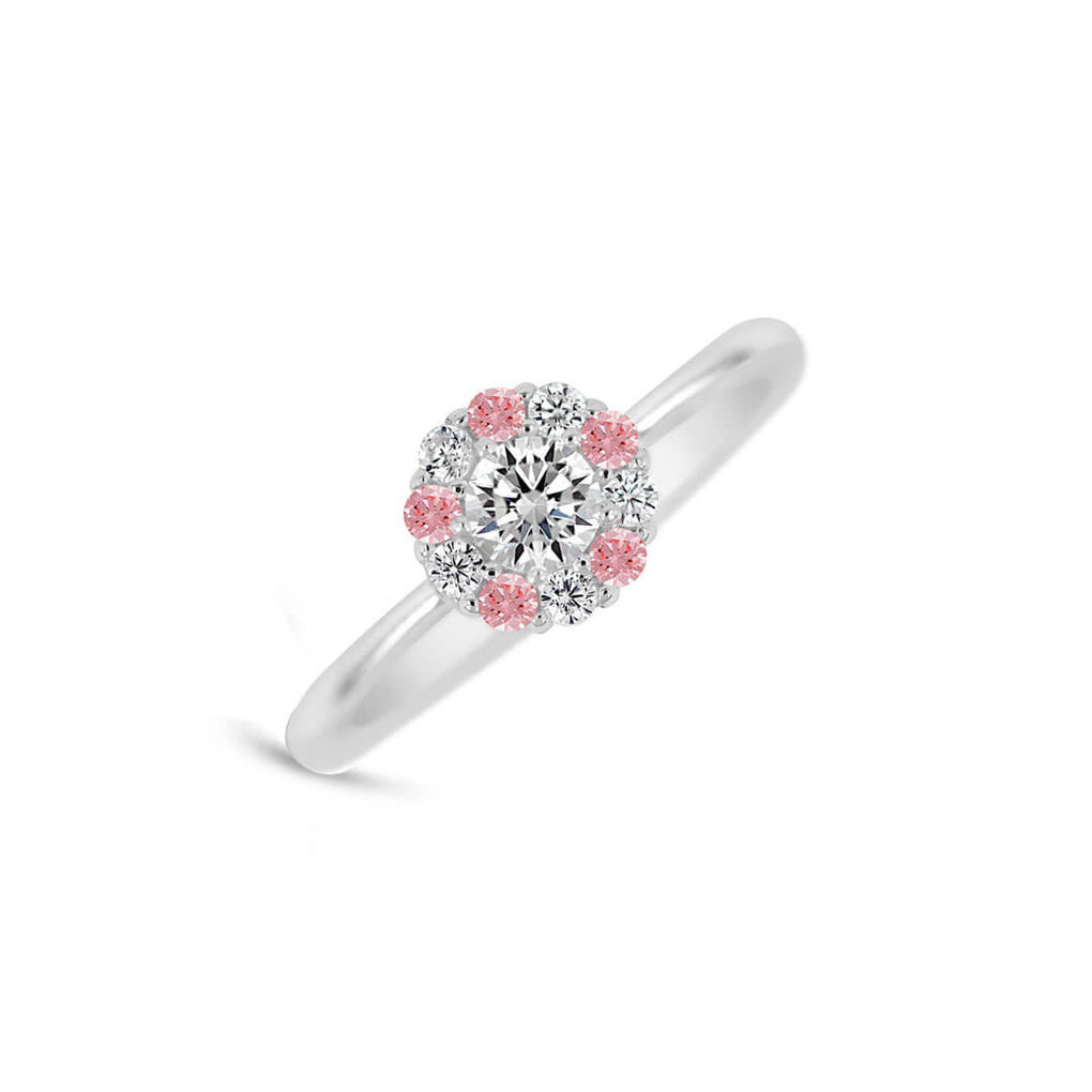 Pure Shine Halo Ring - Pink & Diamond Sparkles