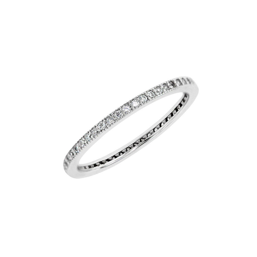 Eternity Stacking Band in Sterling Silver