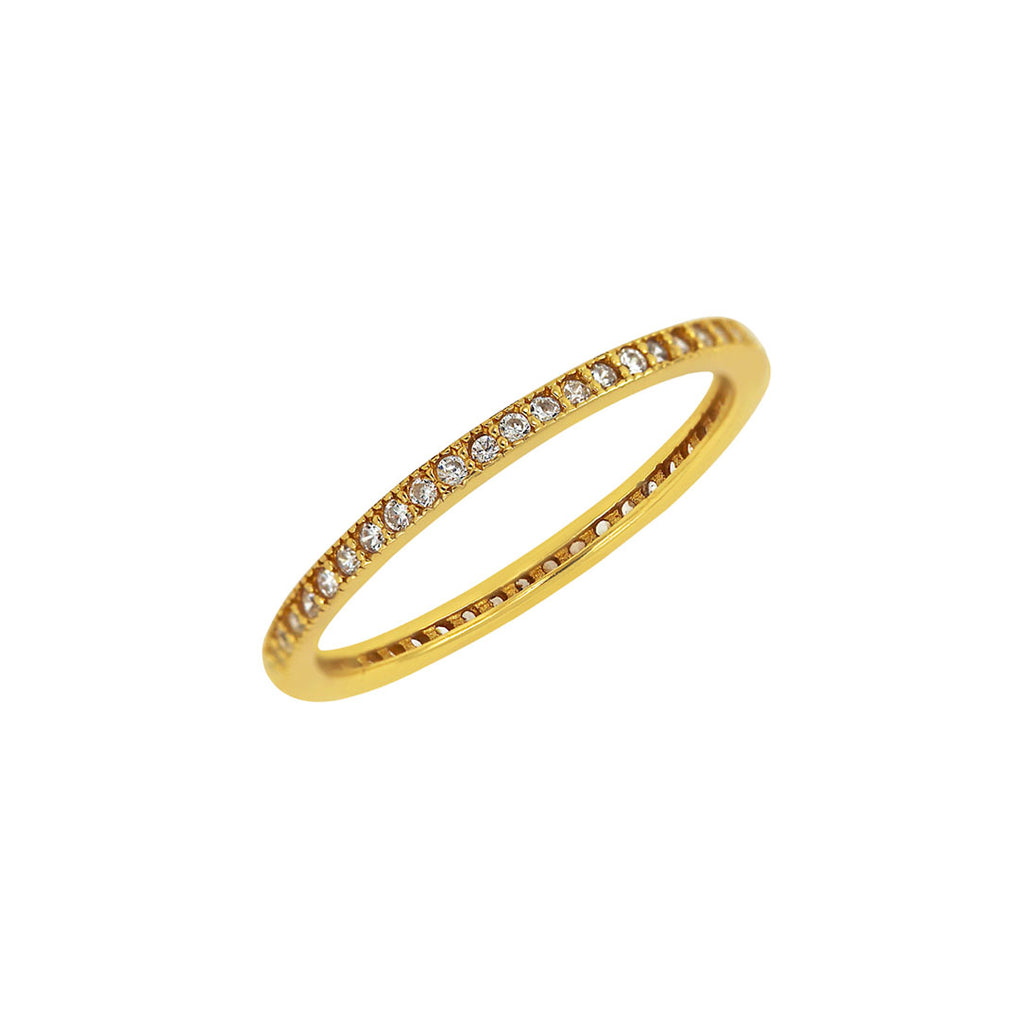 Eternity Stacking Band in yellow gold over sterling silver