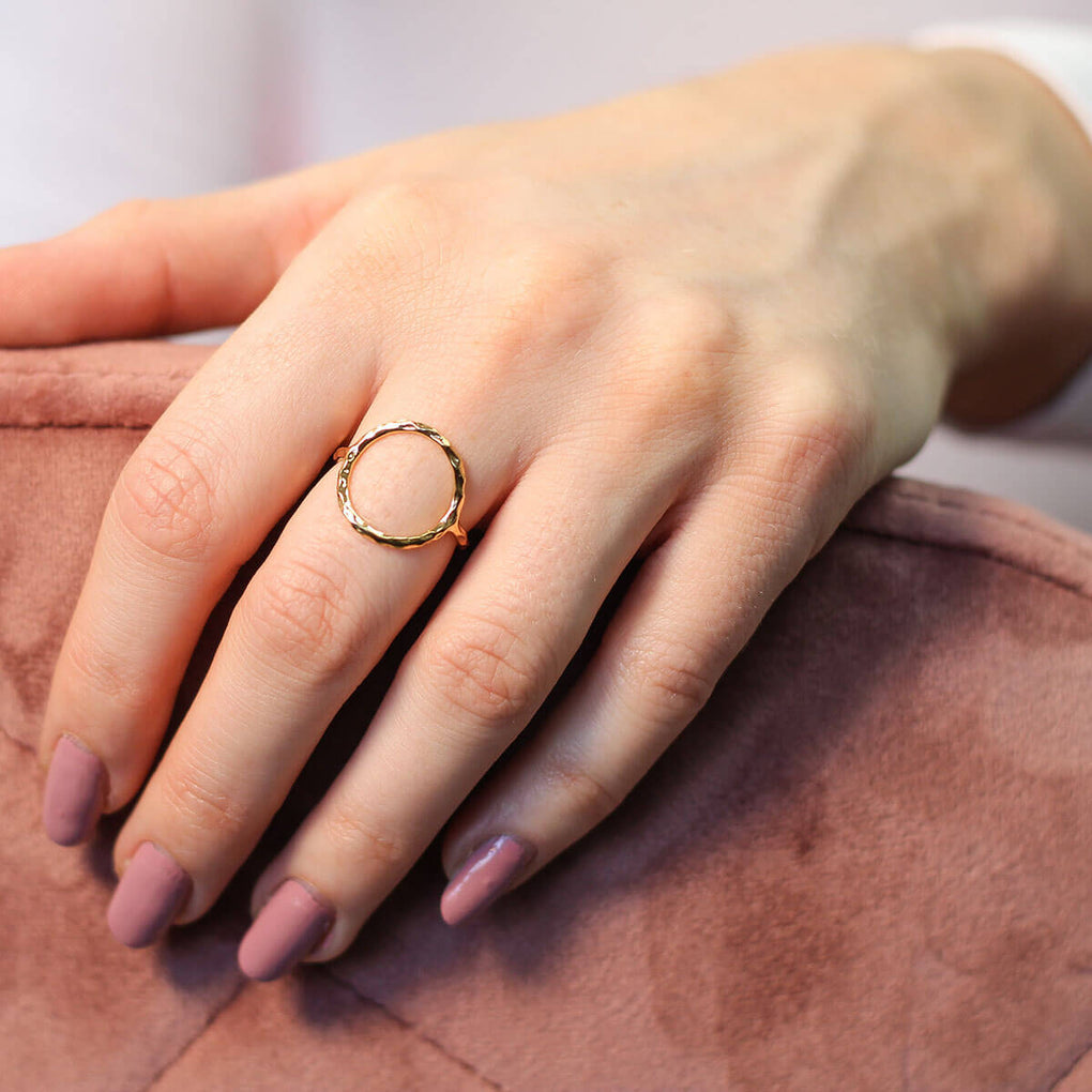 Hammered Infinity Circle Ring | Little Sparkles Jewelry