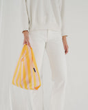 Marigold Stripe Reusable Shopping Bag (small)