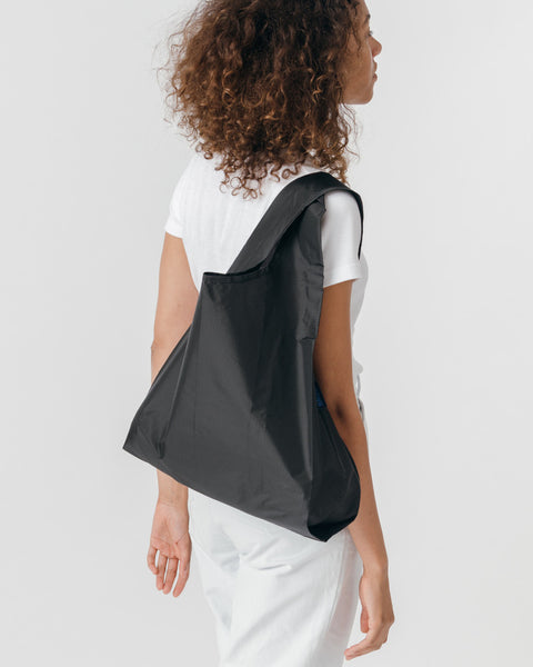 Black Reusable Shopping Bag
