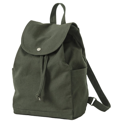 Drawstring Backpack Dark Olive