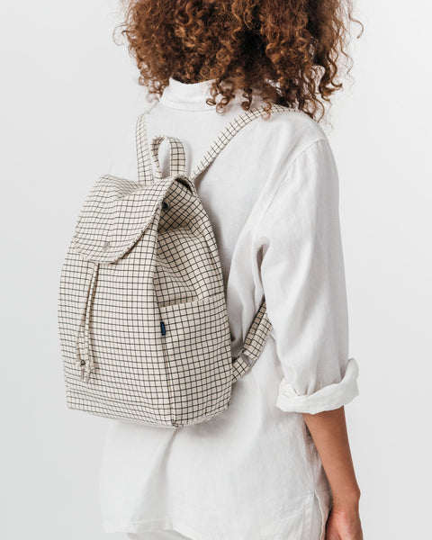 Drawstring Backpack Grid (100% recycled cotton)