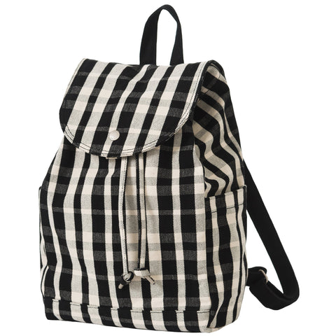 Drawstring Backpack Plaid