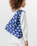 Elephant Blue Reusable Shopping Bag