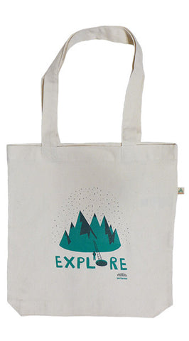 Explore Ecru Tote Bag