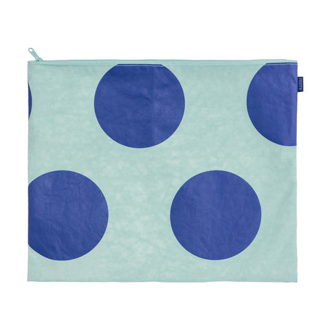 Flat Zip Large Pouch Big Dot