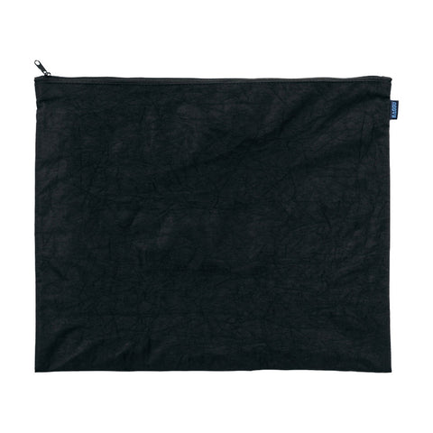 Flat Zip Large Pouch Black
