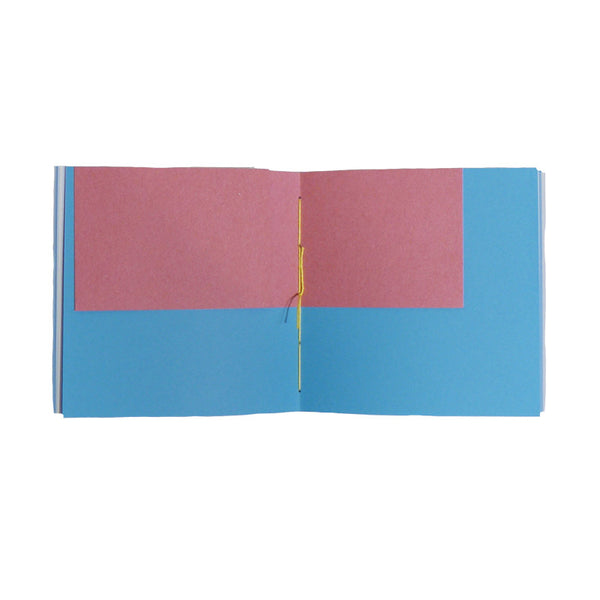 Square Hand-Made Notebook Blue