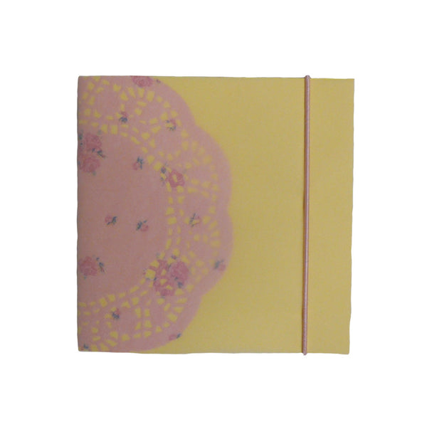 Square Hand-Made Notebook Pink