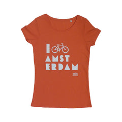 I Bike Amsterdam Hibiscus Women T-shirt