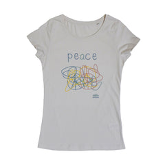 Peace Vintage White Women T-shirt