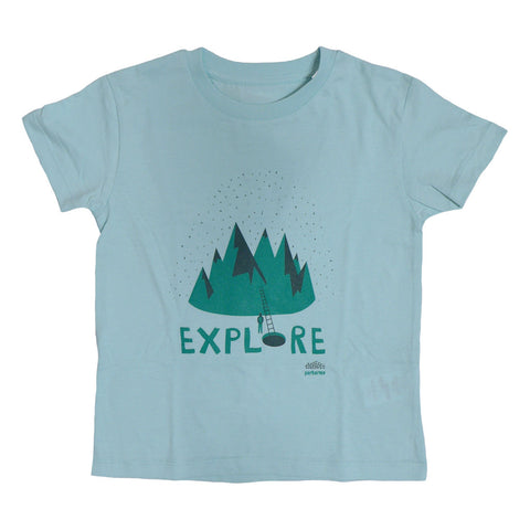 Explore Light Blue Kids T-shirt