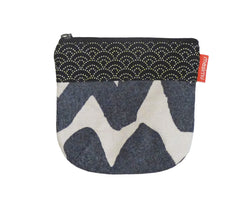Mila Coin Purse Black Wave