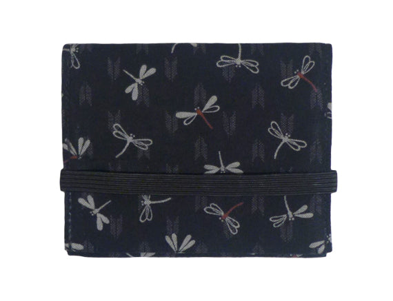 Mini Wallet Black Dragonfly