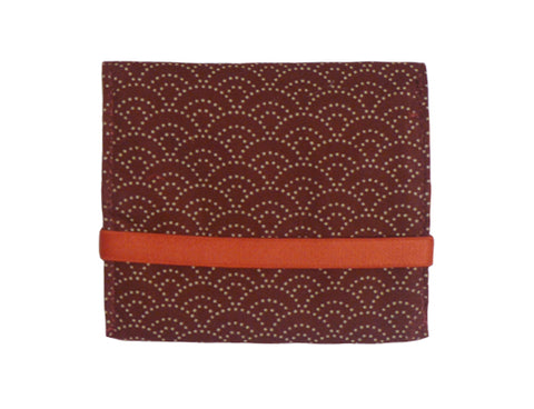 Mini Wallet Burgundy Wave