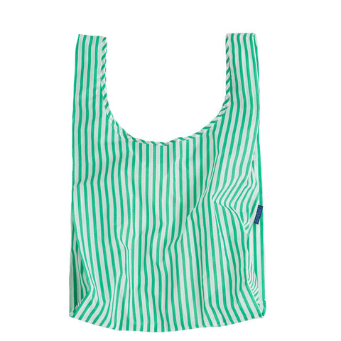 Mint Stripe Reusable Shopping Bag