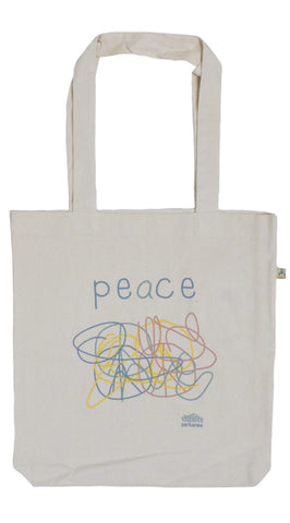 Peace Ecru Tote Bag