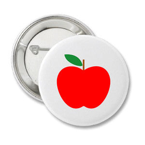 "1.25"" Red Apple Button"