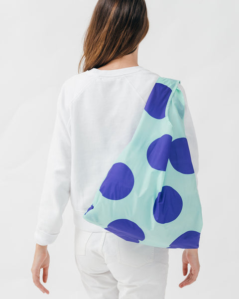 Mint Big Dot Reusable Shopping Bag