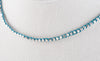 Thai Silver Choker with Blue Waxed Linen