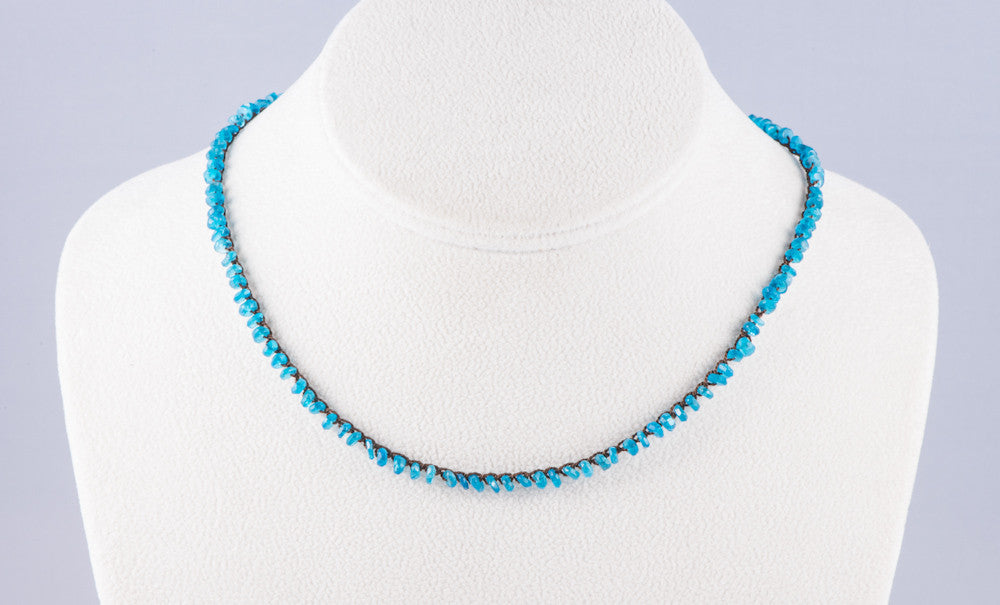 Apatite Crocheted Necklace
