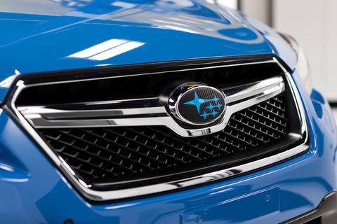 3D Carbon Fiber Front and Rear Emblem Overlays - 2013-2017 Crosstrek