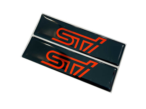 STI Logo Emblems for Weathertech All Weather Floor Mats