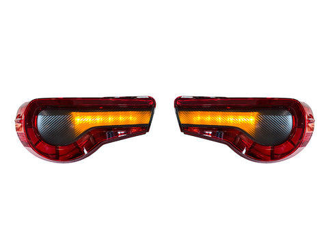 Special Edition Dark Smoke Carbon Fiber Tail Light Overlays - 2017-2021 Toyota 86 / Subaru BRZ