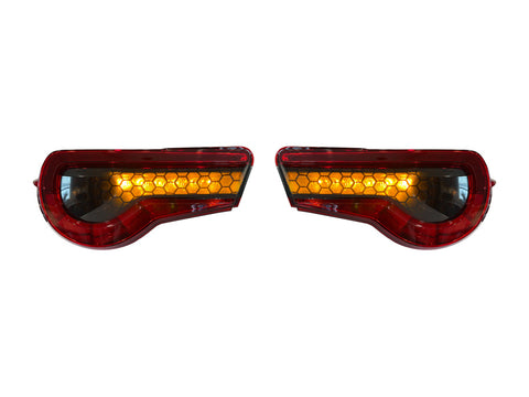 Special Edition Dark Smoke Honeycomb Tail Light Overlays - 2017-2021 Toyota 86 / Subaru BRZ