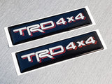 Domed Toyota TRD 4x4 Emblem Inserts for Weathertech Floor Mats (Single) Tacoma Tundra