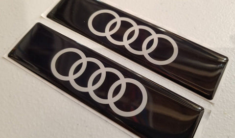 Audi Rings Emblems for Weathertech Floor Mats (Single) - S3 RS3 S4 S6 S7 S8 TTRS