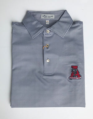 Load image into Gallery viewer, Peter Millar Greek Gingham Performance Polo with Alabama Vault Logo