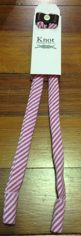 Crimson and White Seersucker SHADESTRAPS by Knot