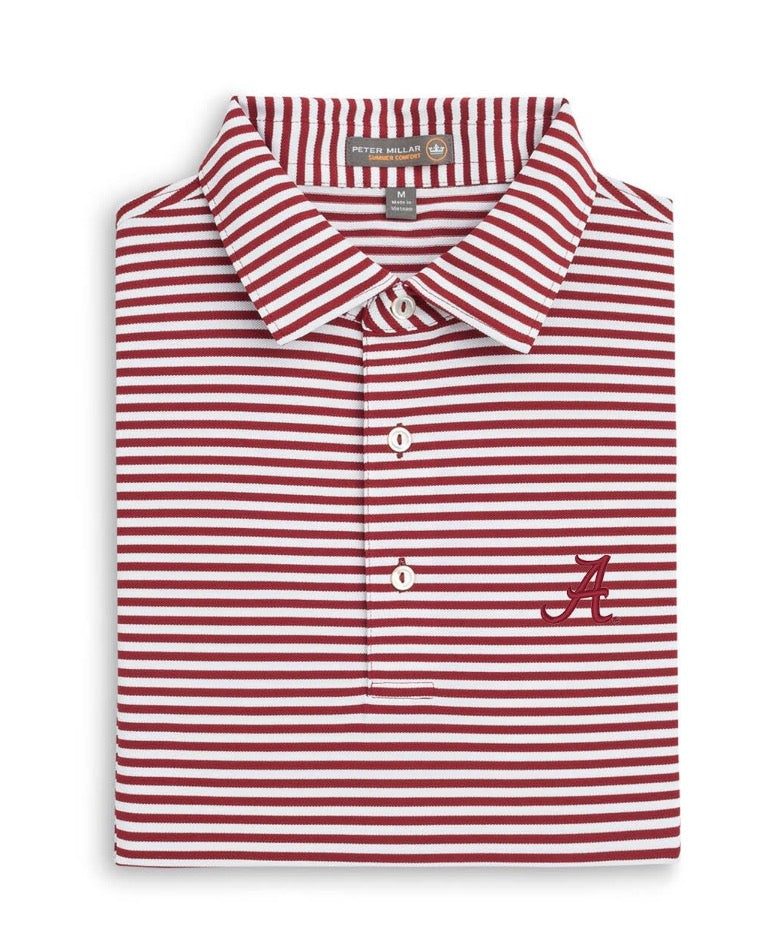 Load image into Gallery viewer, Peter Millar Alabama Touchdown Stripe Polo (2 Colors)