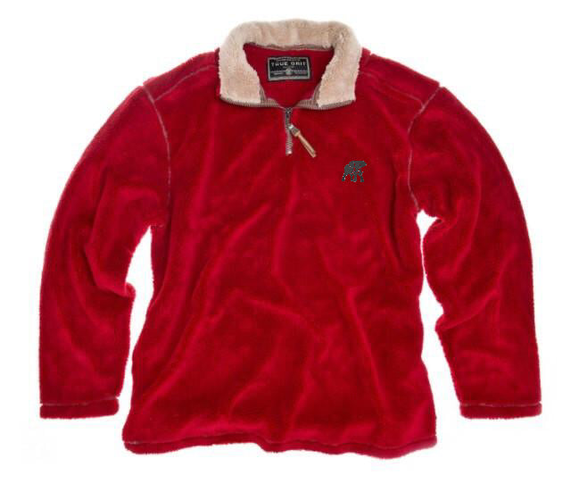 TRUE GRIT PEBBLE PILE PULLOVER WITH LOGO