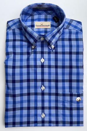 Load image into Gallery viewer, Cotton Brothers Wrinkle Free Button Down- Denny Check (2 Colors)