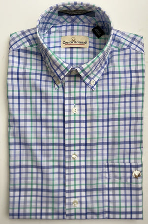 Cotton Brothers Wrinkle Free Button Down- Ferguson Check