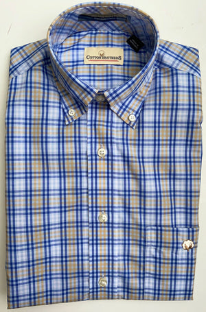 Cotton Brothers Wrinkle Free Button Down - Patey Check (2 Colors)