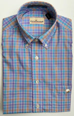 Cotton Brothers Wrinkle Free Button Down- Stadium Check (2 Colors)