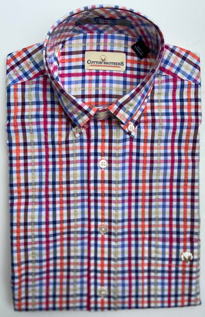 Cotton Brothers Wrinkle Free Button Down - Russell Seersucker (2 Colors)