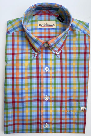 Cotton Brothers Wrinkle Free Button Down - University Plaid
