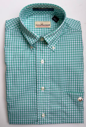 Cotton Brothers Wrinkle Free Button Down - Title Check (5 Colors)