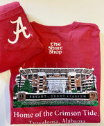 Elephant Wear Bryant Denny Stadium Long Sleeve Tee
