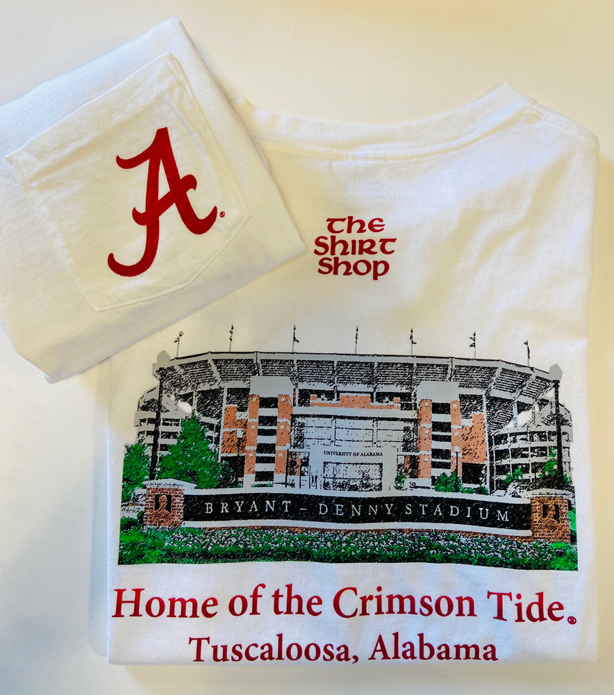 Elephant Wear Alabama Bryant Denny Stadium Tee Shirt