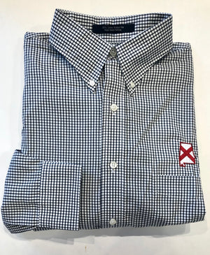 The Shirt Shop Wrinkle Free Black Check- State of Alabama Logo
