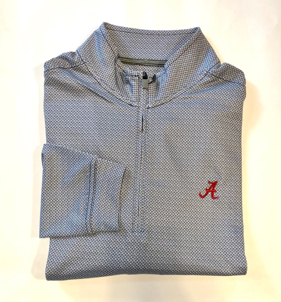 johnnie-O Marlon Printed Quarter Zip with Alabama Logo
